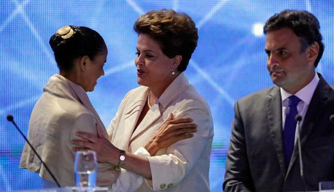 CNT aponta Dilma em primeiro, Marina em segundo e Aécio em terceiro lugar - Foto: AP