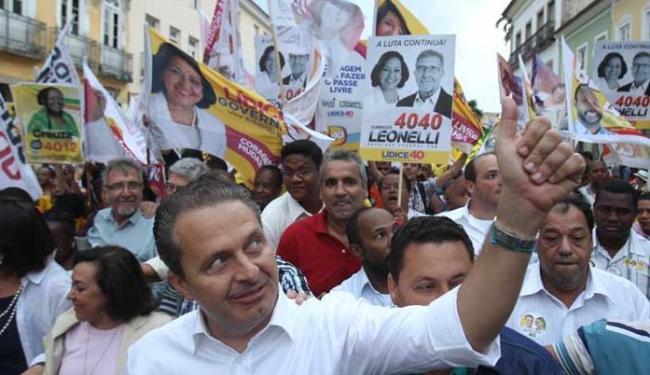 Candidato participou de caminhada no Pelourinho no último dia 7 - Foto: Lúcio Távora | Ag. A TARDE