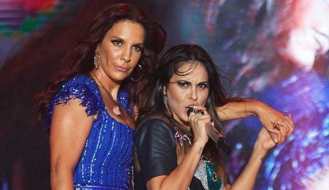 Alinne, que segue em carreira solo, foi a convidada de Ivete Sangalo - Foto: Fred Pontes | Divulgação