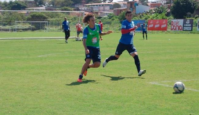 Jogadores treinaram no campo Fazendão antes de viagem para São Paulo - Foto: André Costa | E.C.Bahia