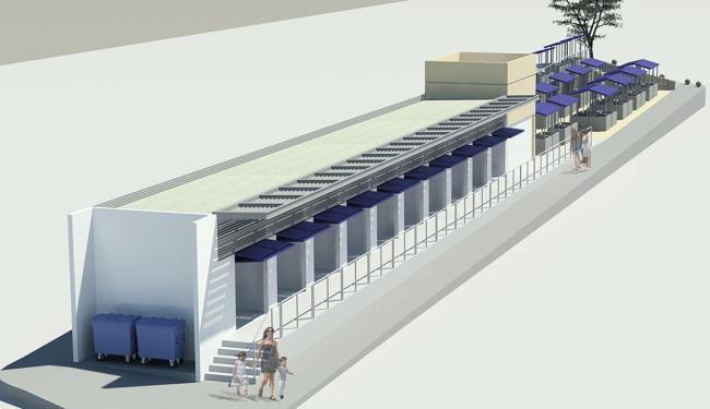 Espaço onde hoje há quatro boxes passará a ter 10 compartimentos e 44 barracas - Foto: Divulgação | Agecom