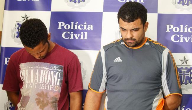 Jadielson (E) e Maurício (D) foram presos após dois meses de investigação - Foto: Edilson Lima | Ag. A TARDE