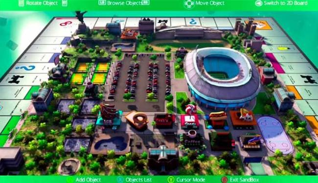 Game Monopoly estará nos consoles até o fim do ano com tabuleiro em 3D - Foto: Divulgação