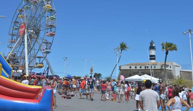 Roda gigante é a atração mais concorrida no bairro da Barra - Foto: Max Haack | Agecom