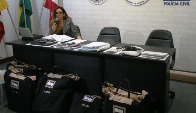 Delegada Suely Brandão apresentou a 2ª etapa da Operação Prometheus nesta quarta-feira, 13 - Foto: Kelly Hosana | Ascom SSP