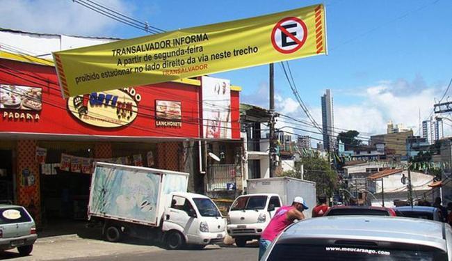 Faixas informam motoristas sobre as mudanças - Foto: Divulgação