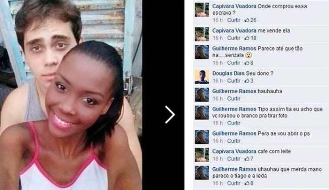 Casal postou foto em que aparecem juntos e foram alvos de racismo - Foto: Reprodução