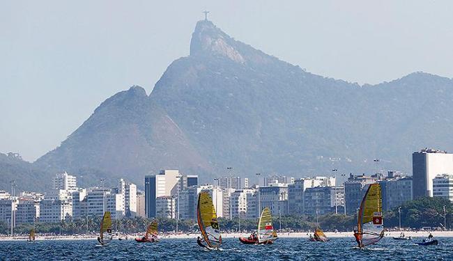 Baía de Guanabara sediou evento-teste no fim de semana - Foto: Sergio Moraes l Reuters