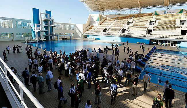 Organizadores apresentam obras dos Jogos à imprensa - Foto: Sergio Moraes l Reuters