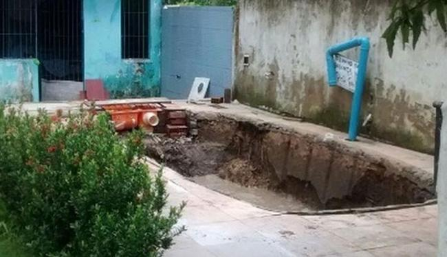 Ao chegar em casa, morador foi surpreendido com roubo de piscina - Foto: Arquivo pessoal