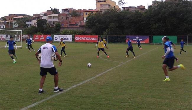 Jogadores que não enfrentaram o Timão participaram de um treino com bola no Fazendão - Foto: Divulgação l E.C. Bahia
