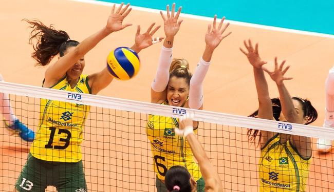 O Brasil começou melhor a partida deste sábado, abriu 5/1 no início - Foto: Estadão Conteúdo