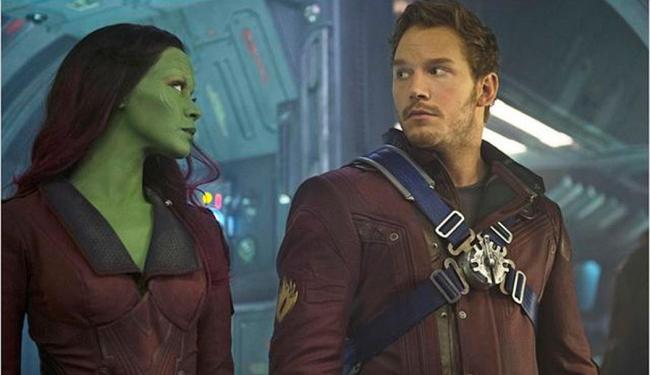 Zoe Saldana e Chris Pratt em cena do filme