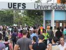 Vestibular da Uefs, fachada da Uefs - Foto: