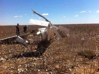 Apesar do estado da aeronave, ninguém morreu no acidente - Foto: Blog SigiVilares | Cortesia