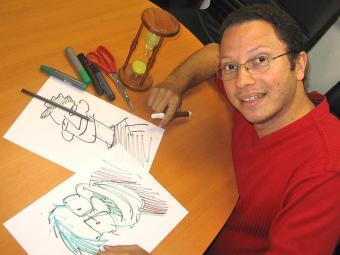 O cartunista Borega trata das eleições de 2014 na coletânea - Foto: Charles Carmo   Divulgação