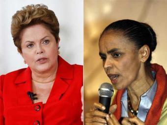 Percentual de rejeição de Marina cresceu, mas ainda é menor do que de Dilma - Foto: Montagem   Ag. A TARDE