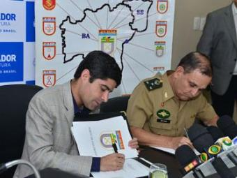 O prefeito ACM Neto na cerimônia de assinatura do termo de cessão - Foto: Max Haack   Agecom