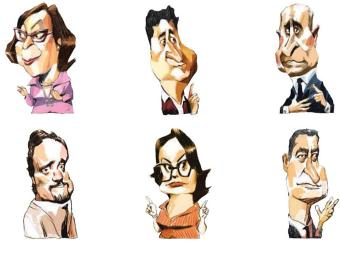 Lídice, Marcos Mendes, Souto, Da Luz, Renata Mallet, Rui Costa - Foto: Cau Gomez | Editoria de Arte | A TARDE