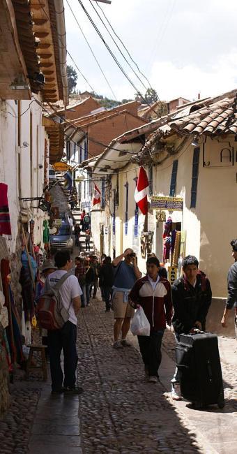 Pedras das ruas de Cusco são herança marcante da civilização inca - Foto: Andreza Rodrigues   Divulgação