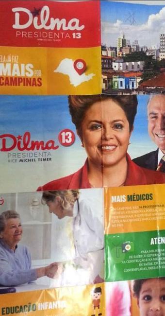 Panfletos de Dilma como esse são distribuídos pelos Correios - Foto: Reprodução