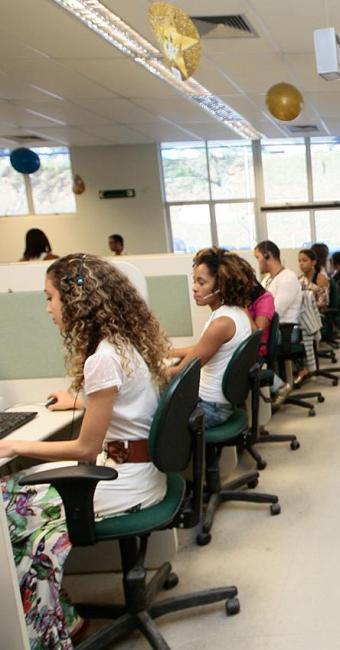 758 vagas são na área operacional para o cargo deTeleoperador - Foto: Mila Cordeiro | Ag. A TARDE