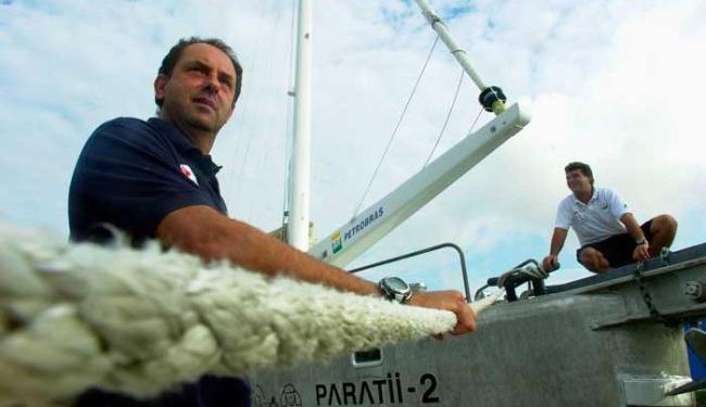 Amir Klink fala sobre a relação que desenvolveu com a navegação brasileira - Foto: AP Photo/Dado Galdieri