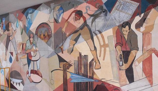 Ao todo, sete painéis foram restaurados desde 2013. Na foto, obra de Carybé (1911-1997) - Foto: Ascom | Esducação