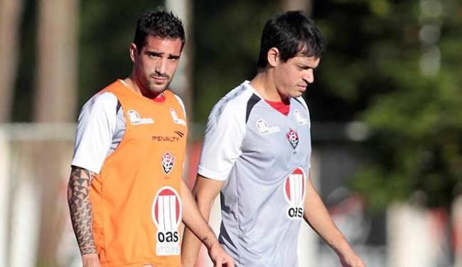 Dupla joga junto no Vitória desde o ano pasado - Foto: Eduardo Martins   Ag. A TARDE 10.07.2013
