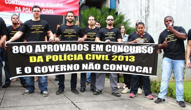Aprovados em concurso protestaram em frente a Secretaria de Administração - Foto: Adriano Vaz   Foto do Internauta