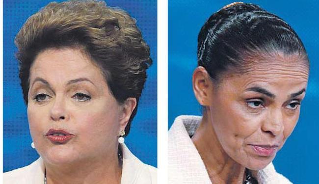 Em um confronto entre as candidatas no 2º turno, Marina aparece com 45,5% contra 42,7% de Dilma - Foto: Fotos: Agência Reuters