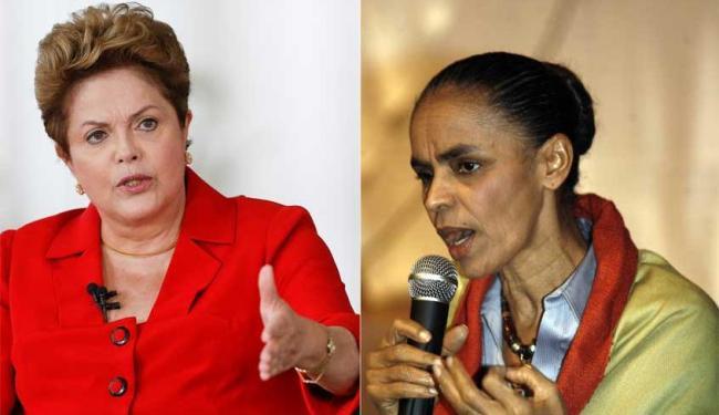 Dilma amplia vantagem sobre Marina no primeiro turno e venceria segundo turno - Foto: Montagem | Ag. A TARDE