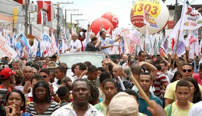 A candidata está em campanha hoje por Feira de Santana - Foto: Divulgação