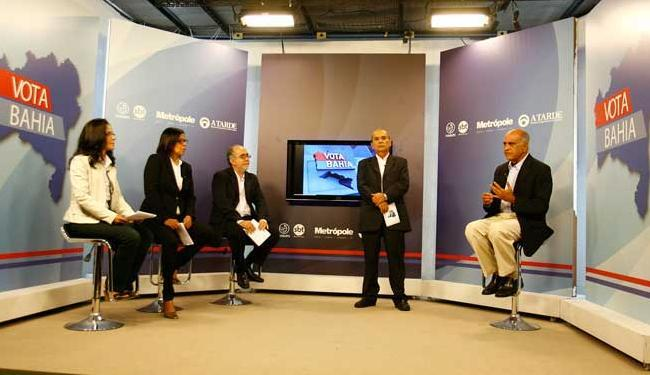 O candidato elogiou a iniciativa dos grupos A TARDE, Metrópole e TV Aratu - Foto: Fernando Amorim | Ag. A TARDE