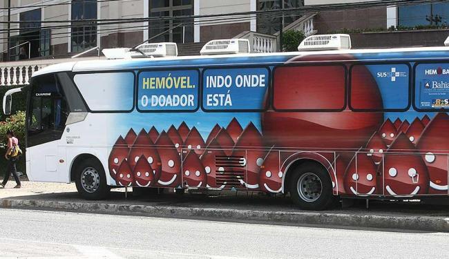 Hemóvel ficará estacionado no Salvador Norte Shopping nos dias 23 e 24 de setembro - Foto: Lunaé Parracho | Ag. A TARDE