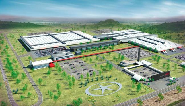 Projeto da fábrica da JAC no Polo de Camaçari: unidade começa a ser construída em novembro - Foto: Ascom SICM | Divulgação