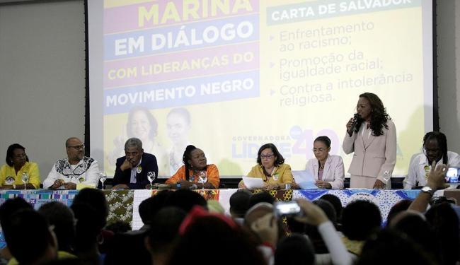 Lídice da Mata e Marina Silva participaram de encontro com lideranças negras em Salvador - Foto: Adilton Venegeroles | Ag. A TARDE