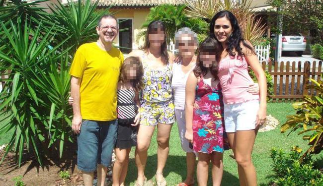Marco Antonio,de camisa amarela,matou a sobrinha Luciana por disputa de administração de pensão - Foto: Reprodução | Facebook