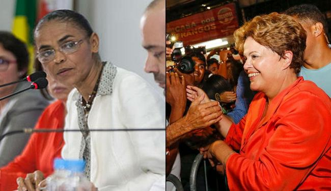Marina e Dilma estão numericamente empatadas num possível segundo turno - Foto: Divulgação