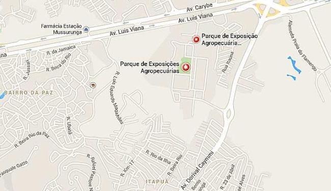Trânsito lento nas avenidas Paralela e Dorival Caymmi - Foto: Google Maps | Reprodução