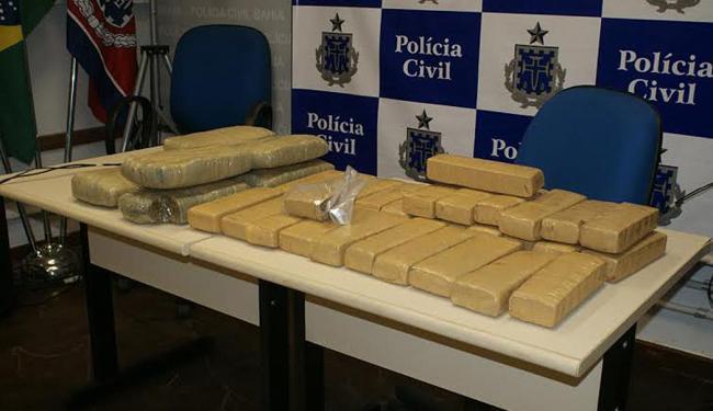 Segundo a polícia, a maconha apreendida está avaliada em R$ 30 mil - Foto: Divulgação | Ascom Polícia Civil