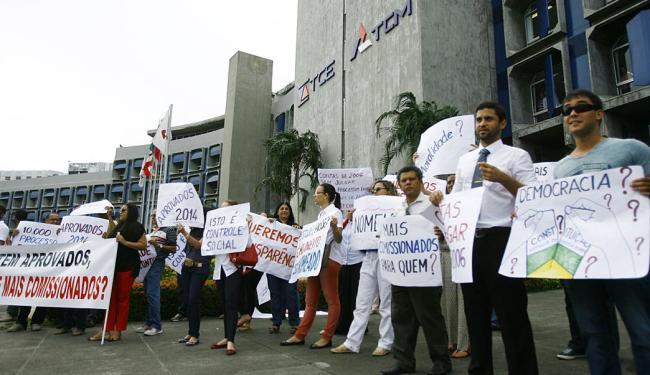 Grupo cobrou a nomeação de concursados em lugar da criação de cargos comissionados - Foto: Joá Souza | Ag. A TARDE