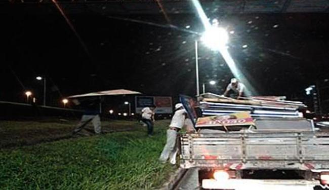Materiais recolhidos foram encaminhados ao depósito da Limpurb, na Rodovia BR 324 - Foto: Ascom   TRE