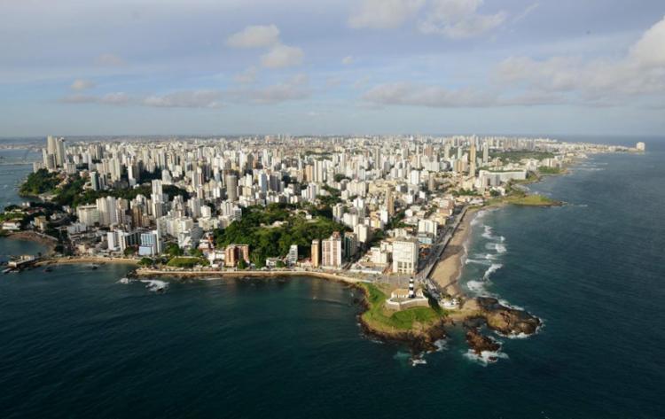 Vista aérea da praia da Barra - Foto: Valter Pontes   Agecom   Divulgação   31.03.2014
