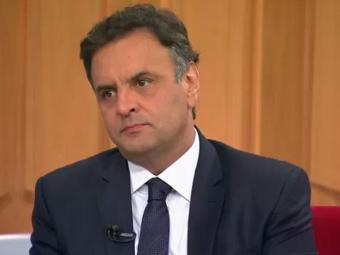 Aécio não se manifestou sobre a proposta de redução da maioridade penal - Foto: Reprodução   Rede Globo