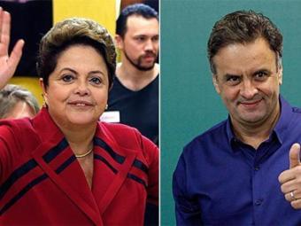 Aécio aparece com 51% das intenções de voto e Dilma com 49% - Foto: Paulo Whitaker e Washington Alves | Agência Reuters