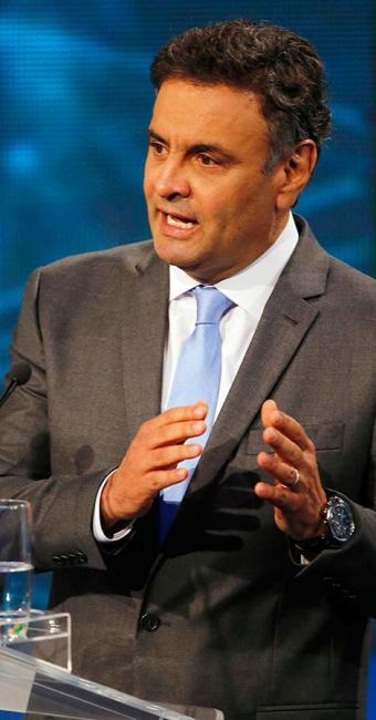 Aécio focou nas críticas sobre corrupção - Foto: Agência Reuters