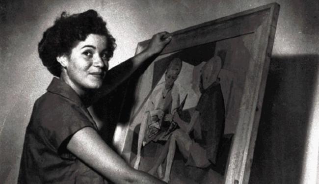 A artista plástica Lygia Sampaio nos anos 1950 - Foto: Acervo pessoal / Divulgação
