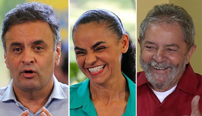 Aécio, Marina e Lula são cotados para disputar a eleição de 2018 - Foto: Agência Reuters
