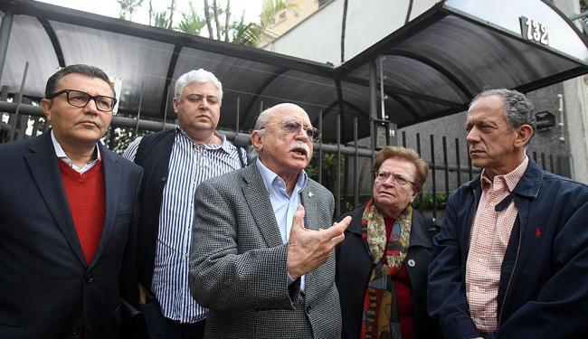 Walter Feldman, último à direita, com a cúpula do PSB em São Paulo - Foto: Felipe Rau | AE